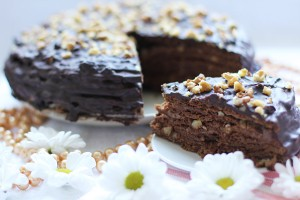 Шоколадный торт Медовый